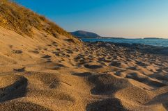 Παραλία Falassarna σε Chania της Κρήτης στην Ελλάδα στοκ εικόνες