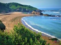Παραλία Fogarty, Όρεγκον, ΗΠΑ στοκ φωτογραφία