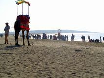 Παραλία Gujarat, Ινδία θάλασσας Somnath Στοκ φωτογραφία με δικαίωμα ελεύθερης χρήσης