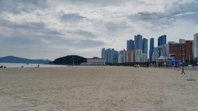 Παραλία Haeundae σε Busan, Νότια Κορέα Στοκ Φωτογραφίες