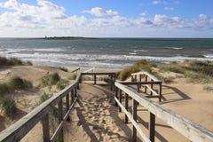 Παραλία Halmstad Σουηδία στοκ εικόνα