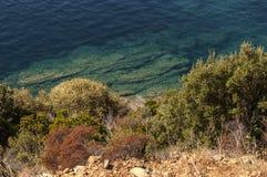 Παραλία, Haute-Corse, Κορσική, ανώτερη Κορσική, Γαλλία, Ευρώπη, νησί Στοκ Εικόνες