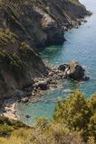 Παραλία, Haute-Corse, Κορσική, ανώτερη Κορσική, Γαλλία, Ευρώπη, νησί Στοκ φωτογραφία με δικαίωμα ελεύθερης χρήσης