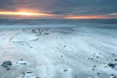 Παραλία Iceburg Στοκ φωτογραφία με δικαίωμα ελεύθερης χρήσης
