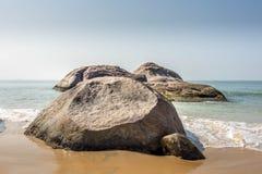 Παραλία kapu του Mangalore στην καλύτερη άποψή του από την κινηματογράφηση σε πρώτο πλάνο Στοκ φωτογραφίες με δικαίωμα ελεύθερης χρήσης