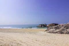 Παραλία kapu του Mangalore στην καλύτερη άποψή του από την κινηματογράφηση σε πρώτο πλάνο Στοκ Εικόνες