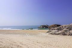 Παραλία kapu του Mangalore στην καλύτερη άποψή του από την κινηματογράφηση σε πρώτο πλάνο Στοκ εικόνες με δικαίωμα ελεύθερης χρήσης