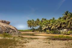 Παραλία kapu του Mangalore στην καλύτερη άποψή του από την κινηματογράφηση σε πρώτο πλάνο Στοκ φωτογραφία με δικαίωμα ελεύθερης χρήσης