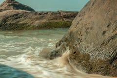 Παραλία kapu του Mangalore malpe στην καλύτερη άποψή του από την κινηματογράφηση σε πρώτο πλάνο Στοκ φωτογραφία με δικαίωμα ελεύθερης χρήσης
