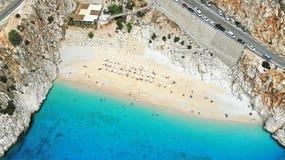 _ Παραλία Kaputas - είναι ένας από τους κόλπους Antalya, Τουρκία Τοποθετημένος κοντά στην πόλη Kas Ο κόλπος πλένεται από το Medit στοκ φωτογραφίες