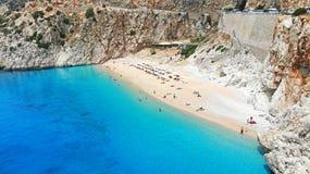 _ Παραλία Kaputas - είναι ένας από τους κόλπους Antalya, Τουρκία Τοποθετημένος κοντά στην πόλη Kas Ο κόλπος πλένεται από το Medit στοκ εικόνες με δικαίωμα ελεύθερης χρήσης