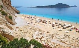 _ Παραλία Kaputas - είναι ένας από τους κόλπους Antalya, Τουρκία Τοποθετημένος κοντά στην πόλη Kas Ο κόλπος πλένεται από το Medit στοκ φωτογραφίες με δικαίωμα ελεύθερης χρήσης