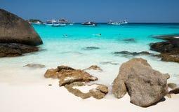Παραλία Koh Similan του νησιού Miang στο εθνικό πάρκο, Ταϊλάνδη Στοκ εικόνα με δικαίωμα ελεύθερης χρήσης