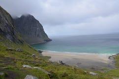 Παραλία Kvalvika Στοκ εικόνα με δικαίωμα ελεύθερης χρήσης