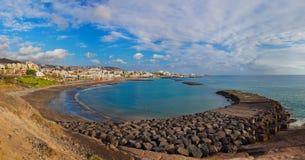 Παραλία Las Αμερική Tenerife στο νησί - καναρίνι Στοκ Φωτογραφίες