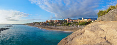Παραλία Las Αμερική Tenerife στο νησί - καναρίνι Στοκ Εικόνα