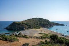 Παραλία Lemos στην ελληνική χερσόνησο Sithonia Στοκ εικόνες με δικαίωμα ελεύθερης χρήσης