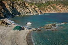 Παραλία Lemos στην ελληνική χερσόνησο Sithonia Στοκ φωτογραφία με δικαίωμα ελεύθερης χρήσης
