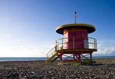 παραλία lifeguard Μαϊάμι ένας σταθμό&sig Στοκ φωτογραφίες με δικαίωμα ελεύθερης χρήσης