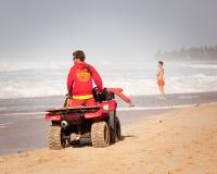 Παραλία Lifeguard στη σωλήνωση Χαβάη Banzai Στοκ Εικόνες