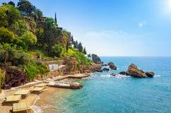 Παραλία Mermerli σε Antalya, Τουρκία Στοκ Φωτογραφίες