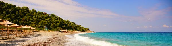 Παραλία Milia στη Σκόπελο, Ελλάδα στοκ εικόνα με δικαίωμα ελεύθερης χρήσης