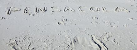 Παραλία Pensacola, κάρτα της Φλώριδας Στοκ Εικόνες