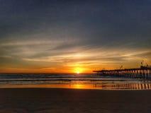 Παραλία Pismo μορφής ηλιοβασιλέματος σε Καλιφόρνια στοκ φωτογραφία με δικαίωμα ελεύθερης χρήσης