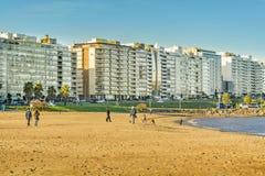 Παραλία Pocitos, Μοντεβίδεο, Ουρουγουάη Στοκ Εικόνες