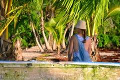 Παραλία Rincon Playa στη Δομινικανή Δημοκρατία Στοκ Εικόνες