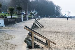 Παραλία Ryde ` s Appley, εκτός από το δασώδες πάρκο Appley στοκ φωτογραφία με δικαίωμα ελεύθερης χρήσης