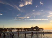 Παραλία Santa Monica Pier Στοκ Εικόνες