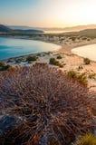 Παραλία Simos στο νησί Elafonisos στην Ελλάδα Το Elafonisos είναι ένα μικρό ελληνικό νησί μεταξύ της Πελοποννήσου και των Κύθηρα Στοκ φωτογραφίες με δικαίωμα ελεύθερης χρήσης