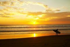 παραλία surfer Στοκ Εικόνες