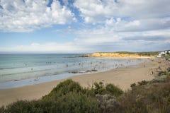 Παραλία Surfers σε Torquay, Βικτώρια, Αυστραλία στοκ εικόνες
