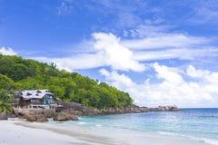 Παραλία Takamaka Anse, Σεϋχέλλες Στοκ φωτογραφίες με δικαίωμα ελεύθερης χρήσης