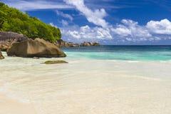 Παραλία Takamaka Anse, Σεϋχέλλες Στοκ Εικόνες