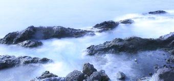 Παραλία Tenerife Κανάρια νησιά tenerife exposure long Στοκ φωτογραφία με δικαίωμα ελεύθερης χρήσης