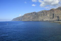 Παραλία Tenerife Κανάρια νησιά tenerife Gigantes Στοκ φωτογραφία με δικαίωμα ελεύθερης χρήσης