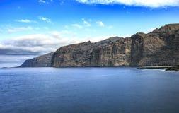 Παραλία Tenerife Κανάρια νησιά tenerife Gigantes Στοκ Φωτογραφίες