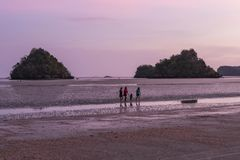 Παραλία Thara Nopparat, Aonang, Ταϊλάνδη Στοκ εικόνα με δικαίωμα ελεύθερης χρήσης