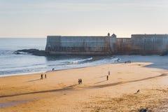 Παραλία Torre, παραλία πύργων, paco de arcos, oeiras, Λισσαβώνα, Πορτογαλία στοκ φωτογραφία με δικαίωμα ελεύθερης χρήσης