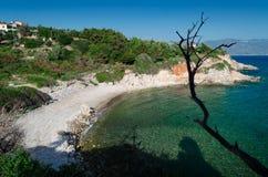 Παραλία Tracia χαλικιών στοκ εικόνα