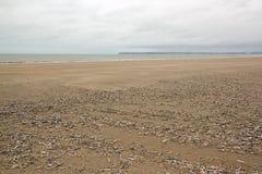 Παραλία Trouville, μέγηστες παλίρροιες Νορμανδία Γαλλία Στοκ φωτογραφία με δικαίωμα ελεύθερης χρήσης