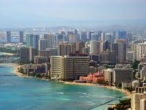 Παραλία Waikiki, Χονολουλού, Χαβάη, ΗΠΑ Στοκ Φωτογραφία