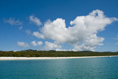 Παραλία Whitehaven, Queensland, Αυστραλία Στοκ εικόνα με δικαίωμα ελεύθερης χρήσης