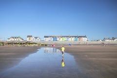 Παραλία Ynyslas στη φωτεινή θερινή ημέρα στοκ εικόνες