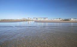 Παραλία Ynyslas στη φωτεινή θερινή ημέρα στοκ φωτογραφίες