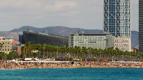 Παραλίες και αρχιτεκτονική της πόλης της Βαρκελώνης Χρονικό σφάλμα φιλμ μικρού μήκους