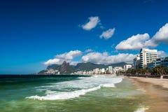 Παραλίες Arpoador και Ipanema στο Ρίο Στοκ Εικόνα